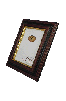 Brown With Gold Line Photo Frame -