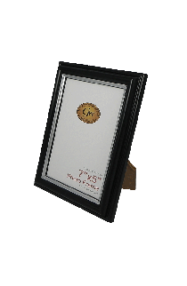 Black With Silver Line Photo Frame - GW650-BlackSilver-PH