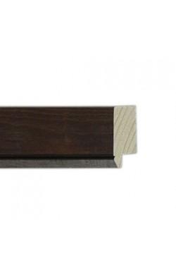 FLAT WALNUT WOODGRAIN SILVER LINE