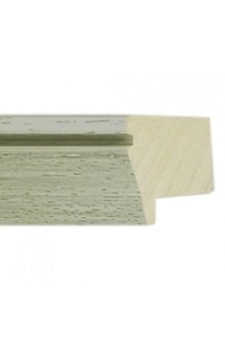 BEVEL DISTRESSED LIME GREEN WHITE WASH